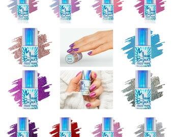 12pcs gel polish set Maga Inna Bajka 3 Collection glitter shimmer unicorn rainbow holographic indie shiny nails