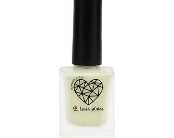 BLP45 - stamping polish for stamping nail art stamping plates light yellow beige winter - B. a Winter Sunlight