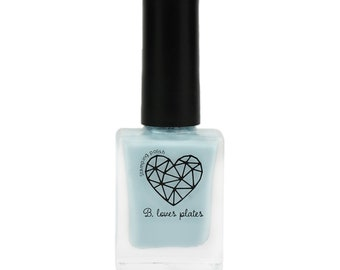 BLP43 - stamping polish for stamping nail art stamping plates light blue blue winter - B. a Fern Frost
