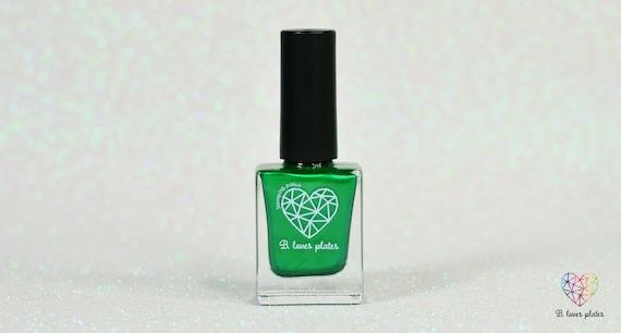 BLP09 - stamping polish for stamping nail art stamping plates green  metallic - B  a Christmas Tree