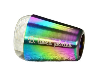 Nail stamper Rainbow Crystal Clear - the best stamper for nail art stamping plates multichrome clear jelly