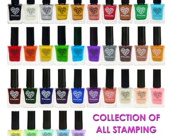 Set of all 35 stamping polishes B. Loves Plates - buy the whole collection!