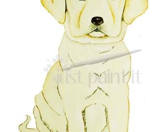 Retriever Puppy Illustration Instant Download