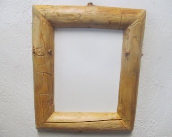 8 X 10 Inch Rustic Picture Frame Natural Wood Frame Cabin Etsy