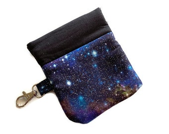 Snappy Earbud Case, Star Galaxy Earbud Case, Phone Charger Case, Earbud Pouch, Padded Earbud Pouch, Gift Card Holder