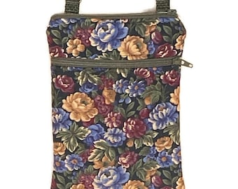Fall Cell Phone Purse, Crossbody Cell Phone Purse, Smartphone Purse, iPhone Purse, Fall Floral Purse