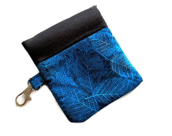 Snappy Earbud Case, Blue Earbud Case, Phone Charger Case, Earbud Pouch, Padded Earbud Pouch, Gift Card Holder