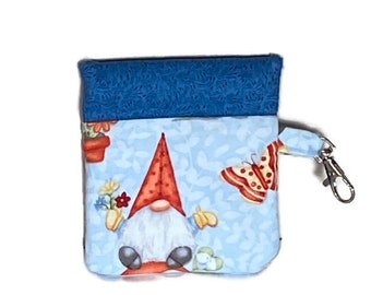 Snappy Earbud Case, Gnome Earbud Case, Phone Charger Case, Earbud Pouch, Padded Earbud Pouch, Gift Card Holder