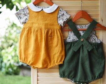 3aba2b29d785 Linen baby clothes