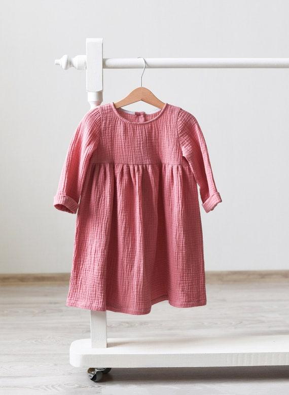 Muslin Baby Dress Muslin Toddler Dress Cotton Gauze Pin Etsy