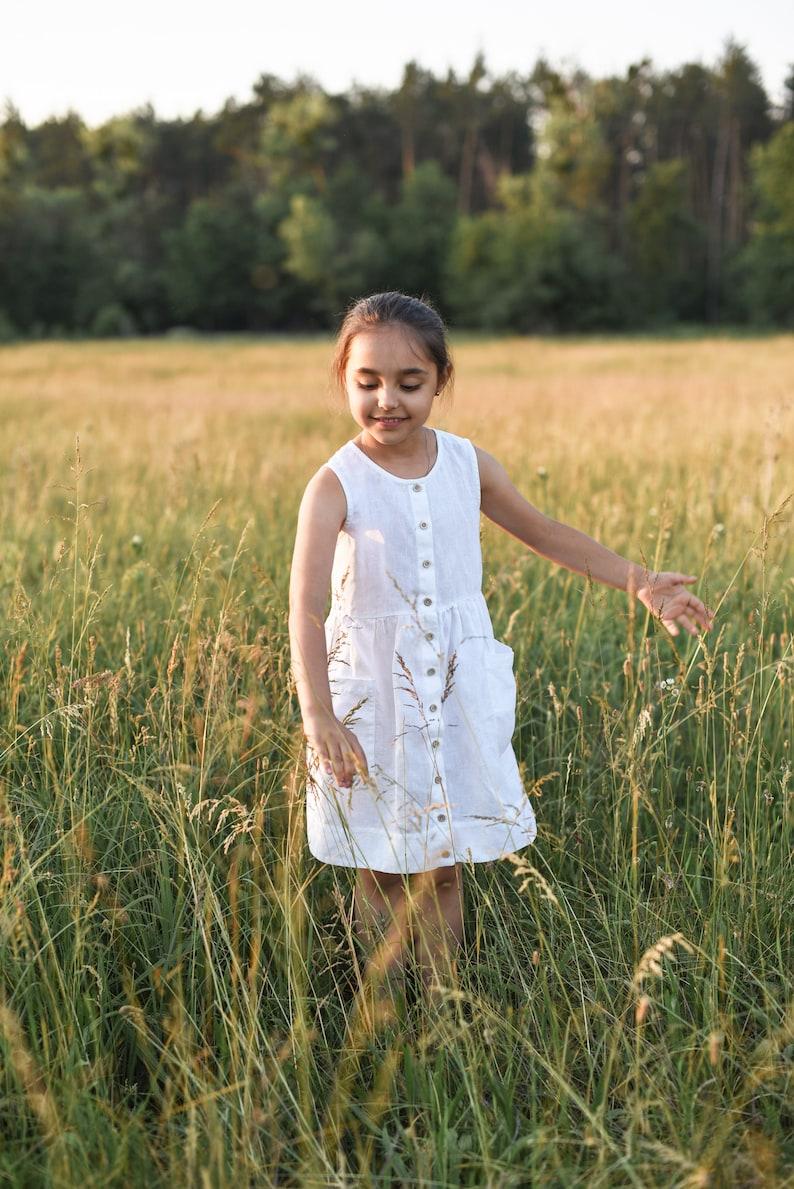 72da06dff1d3 Linen Dress Girls Sundress Toddler Dress Bohemian Dress | Etsy