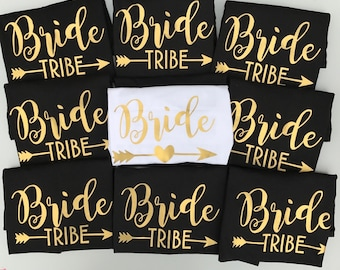 Bride Tribe, bride shirts, Black and Gold, bride tribe top, Team bride, bridesmaid, bride shirt, bride , bridesmaid gifts, bride party shirt