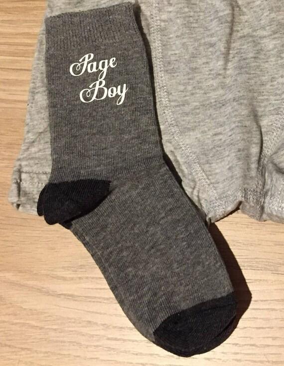 page garçon gris chaussettes, chaussettes grises, chaussettes personnalisés gris, fils de brides, fils mariés, chaussettes porteur de l'anneau, chaussette garçons, chaussettes d'enfants, chaussures garçons