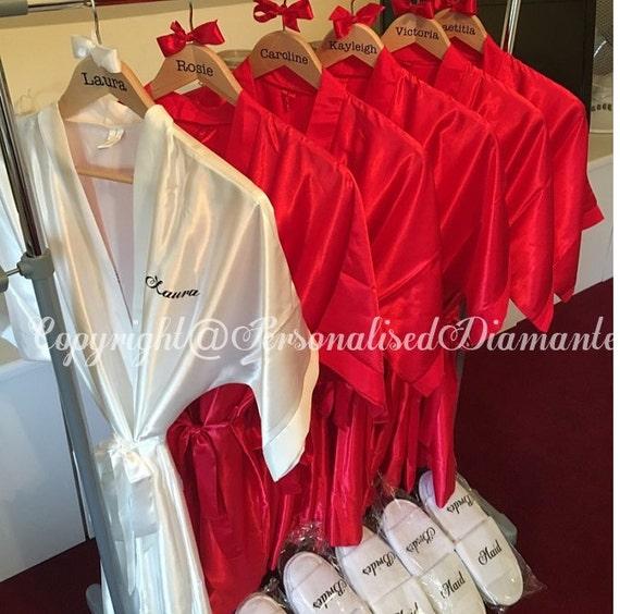 5c5b10e394 Personalised kimono robe personalised satin robe