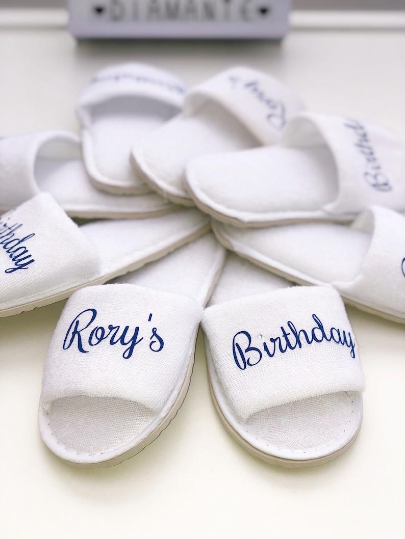 Kids personalised spa slippers | Etsy