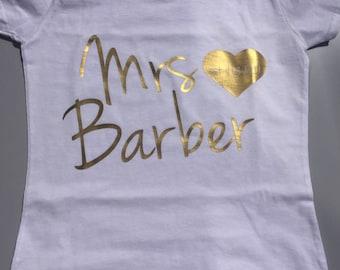 Mrs t-shirt, Personalised t-shirt, Just married t-shirt, White t-shirt, Mrs tee, Honeymoon Gift, Wedding Gift, Personalised Gift, wifey