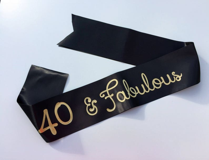 40th Birthday Sash Gift