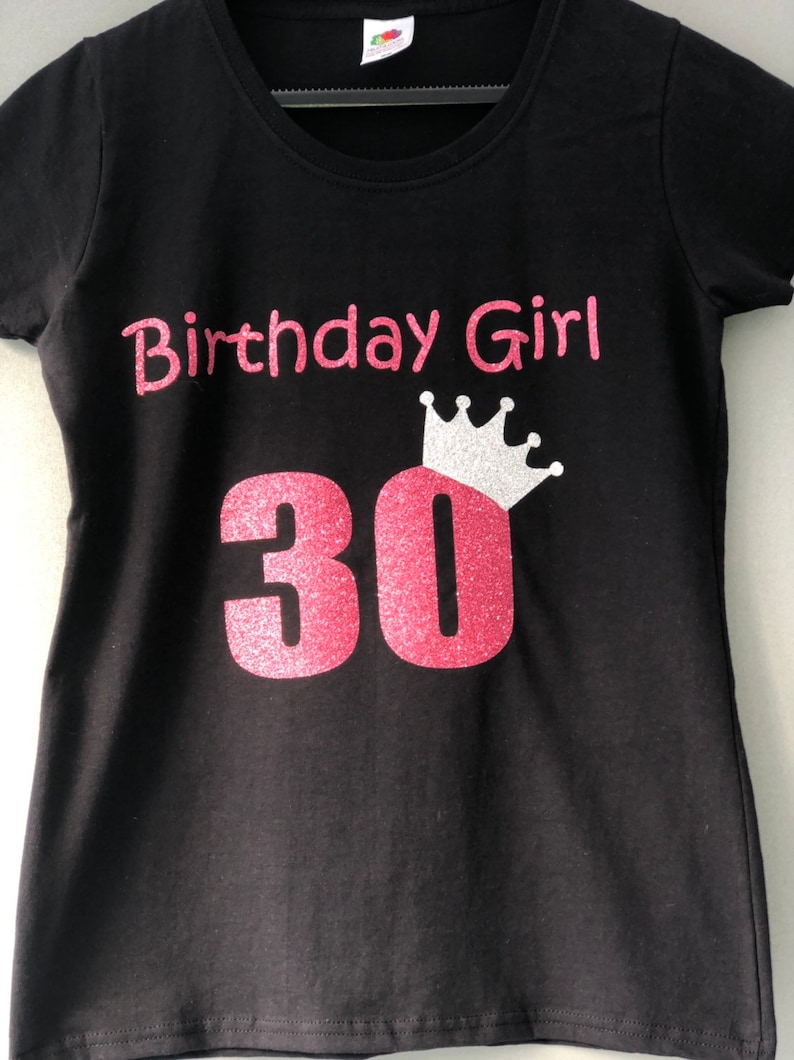 30th Birthday T Shirt Personalised Tshirt 40th