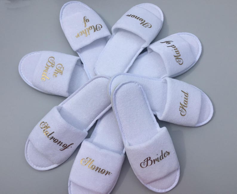 7a22012db Bride slippers Mother of the bride bachelorette slippers