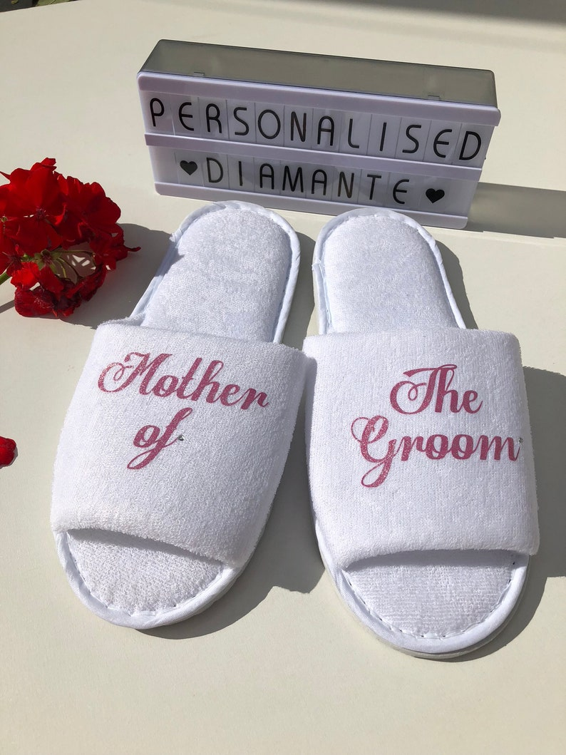 8b75a26e1 Mother of the bride slippers wedding slippers bride