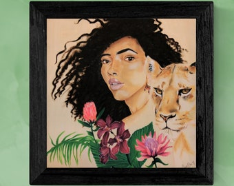 "Lioness - Orchid - Tropical - ""Queen"" Original Art Print"