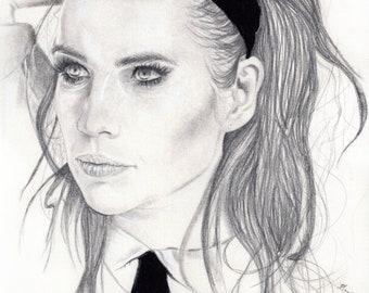 Commission - Original Custom Portrait - Graphite, Charcoal, Mixed Media on Paper