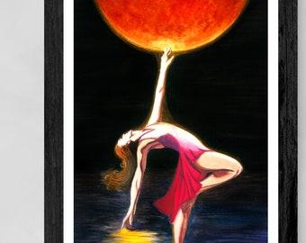 "Sun Dancer - Light - ""She Brings the Sun"" - Original Painting Art Print"
