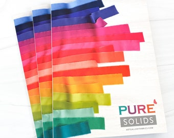 AGF Pure Solids Color Card with new colors added! - Art Gallery Fabrics
