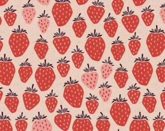 CANVAS Under the Apple Tree - Queen of Berries - True Red by Cotton + Steel - LV500-TR6UC