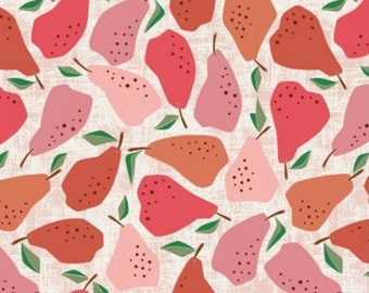 Red Quince - Under the Apple Tree - by Loes Van Oosten for Cotton+Steel - LV502-RE1