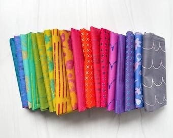 Patchwork Lone Star Quilt Kit Bundle - Throw Size - Rainbow