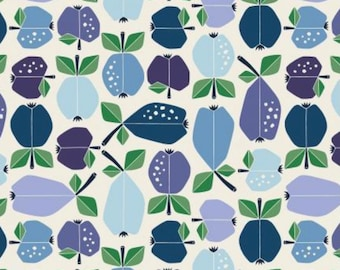 Azure Orchard - Under the Apple Tree - by Loes Van Oosten for Cotton+Steel - LV503-AZ3