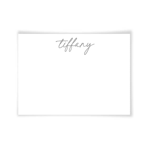 Tiffany | Printable Note Card