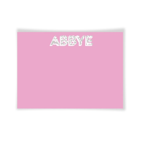 ABBYE | Printable Note Card