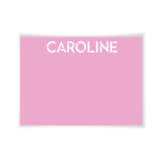 CAROLINE | Printable Note Card