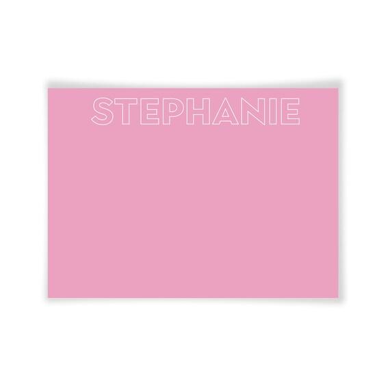 STEPHANIE | Printable Note Card