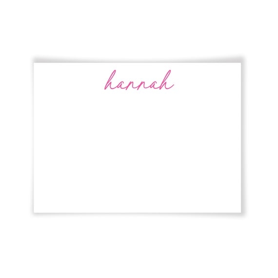 HANNAH | Printable Note Card