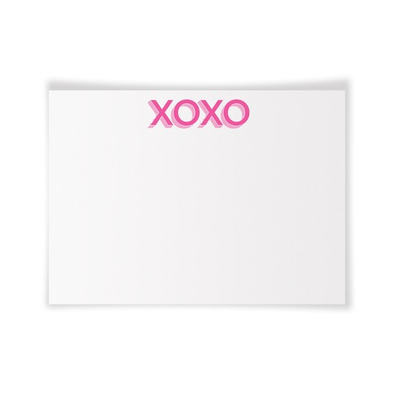XOXO | Printable Notecard