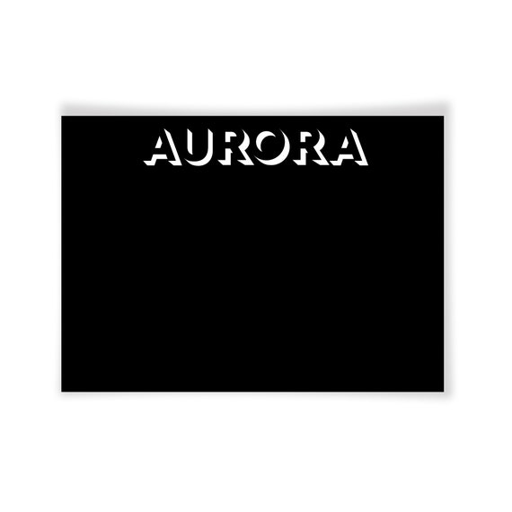 AURORA | Printable Note Card