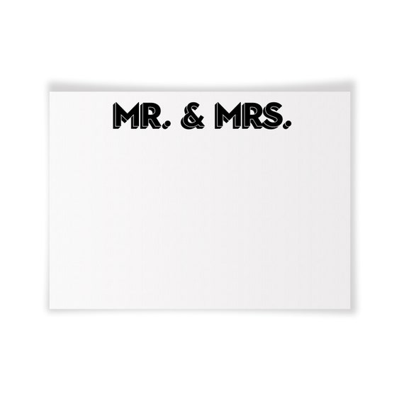 MR. & MRS. | Printable Note Card