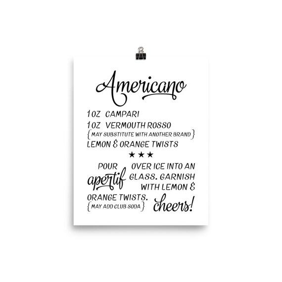 Americano | Printable Art