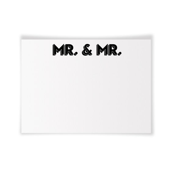 MR. & MR. | Printable Note Card