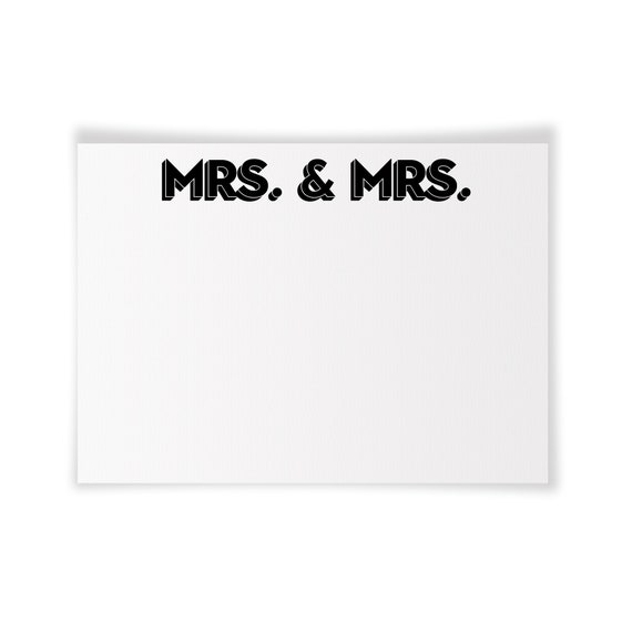 MRS. & MRS. | Printable Note Card