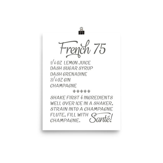 French 75 | Printable Art