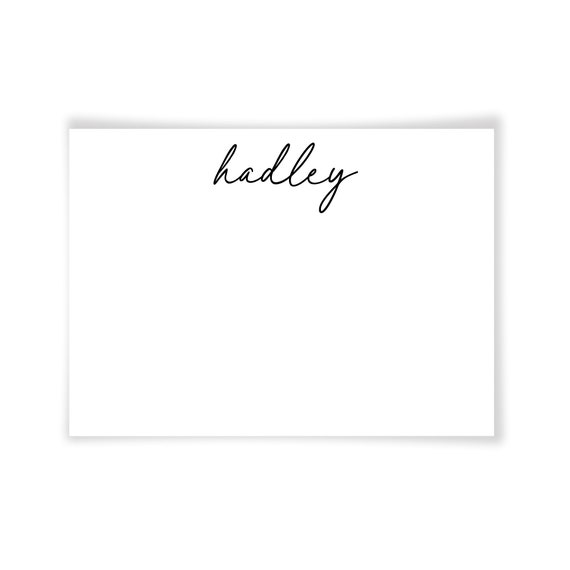 HADLEY | Printable Note Card