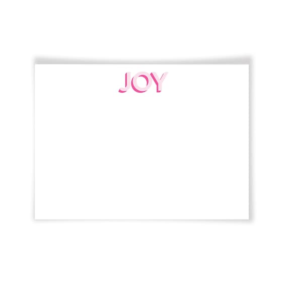 JOY | Printable Note Card