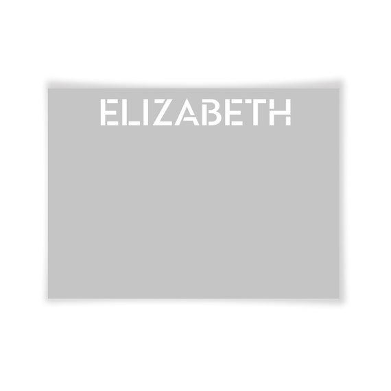 ELIZABETH | Printable Note Card