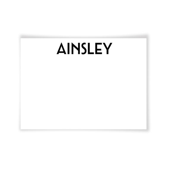AINSLEY | Printable Note Card