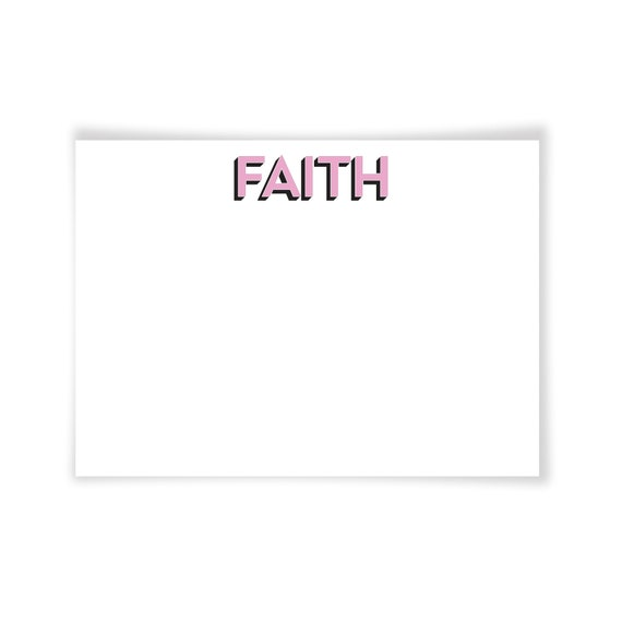 FAITH | Printable Note Card
