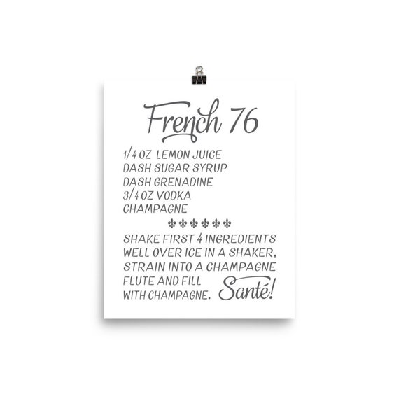 French 76 | Printable Art